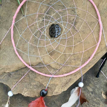 Large Dream Catcher, Pink Dreamcatcher, Wall Hanging, Big Wall Decor, 11 inch Dream catchers, Native America, Spiritual