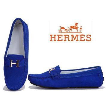 Hermes Women Fashion H Logo Flats Shoes Dancing Shoes-2