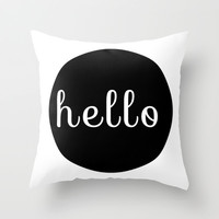 Hello Pillow Throw Pillow by Cabinet Of Pretty Things
