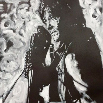 Norman Reedus Walking Dead Art Daryl Dixon Original Oil Painting 20x24 Pop Art Painting Canvas Painting Black and White Art Americana