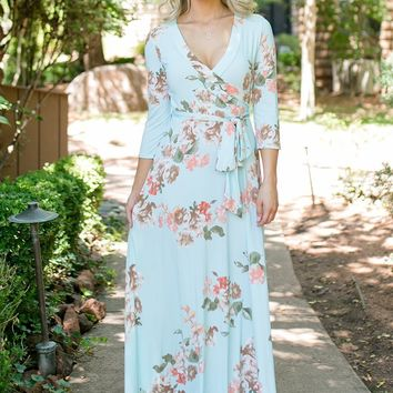 Mia Wrap Maxi Dress - Nursing & Wrap Friendly