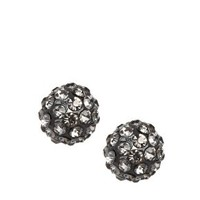 ASOS Pave Ball Tunnel Earrings at asos.com