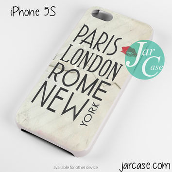 Paris London Rome New York Phone case for iPhone 4/4s/5/5c/5s/6/6 plus