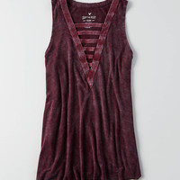 AEO Soft & Sexy Ladder Front Tank , Plum