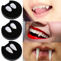 2Pcs Halloween cosplay Dentures Zombie Vampire Teeth Ghost Devil Fangs Props Costume Party