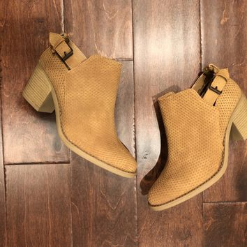 Lambert Booties in Tan
