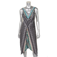 Style & Co. Womens Embellished Sleeveless Casual Dress