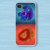 Twin Lion king with aztec : Case For Iphone 4/4s ,5 /Samsung S2,3,4