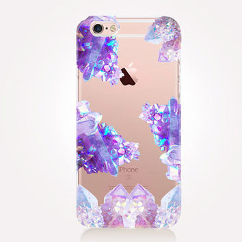 Transparent Crystal Dreams iPhone Case- Transparent Case - Clear Case - Transparent iPhone 6 - Transparent iPhone 5 - Transparent iPhone 4