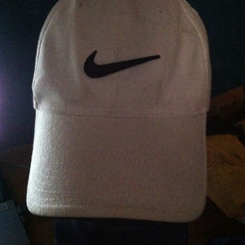 Vintage 90s NIKE fitted hat vtg old school white tag air osfa flexfit