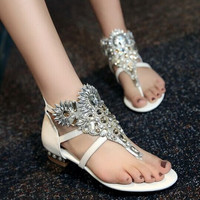 Fashion dermis gem flat sandals 6841ND
