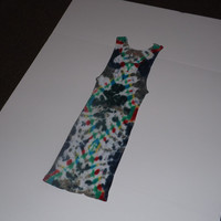 Tie Dye Tank - Geometric Diamonds - Choose Any Size (adult / youth) and Colors!