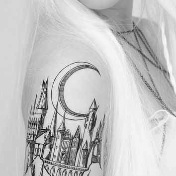 Castle Linework Tattoo