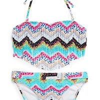 Roxy Fringe Bandeau Two-Piece Swimsuit (Big Girls)