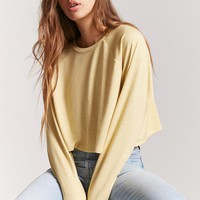 Raglan Sleeve Crop Top