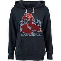 Boston Red Sox Majestic Threads Women's Visionary Tri-Blend Pullover Hoodie - Navy