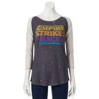 Mighty Fine Star Wars ''The Empire Strikes Back'' Juniors' Thermal Tee, Size: