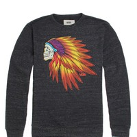Vans Headdress II Crew Fleece - Mens Hoodie - Black