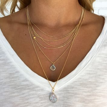 In The Sky Layered Necklace in Gold