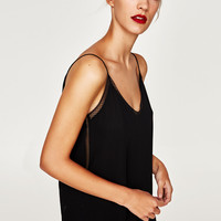 CAMISOLE TOP WITH THIN STRAPS