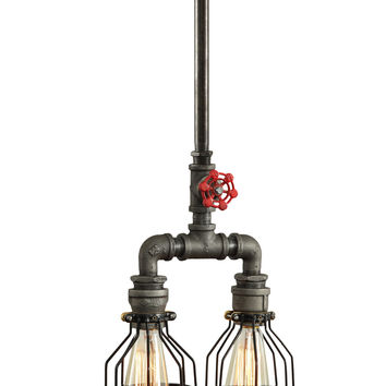 Industrial Double Ceiling Light