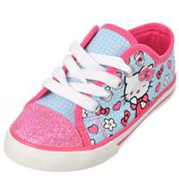Hello Kitty Girls -Wink Bow Sneakers (Toddler Sizes 11 - 12)-hek02505