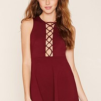 Crisscross Fit and Flare Dress