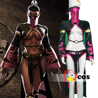 Mortal Kombat game 9 mask cosplay Mortal Kombat kitana Mileena Mortal Kombat Cosplay Costume sexy Halloween costumes for women