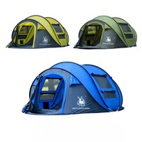 HUILINGYANG outdoor 3-4persons automatic speed open throwing  pop up windproof waterproof beach camping tent large space