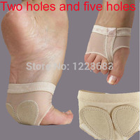 Free Shipping Two Holes Five Holes Professional Belly Toe Pad Modern Half Lyrical Dance Shoes Sandals Paws Dance Foot Thongs
