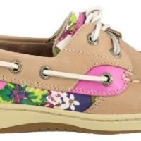 Sperry Top-Sider Women's Linen/Rose Floral Bluefish 2-Eye 9 B(M) US