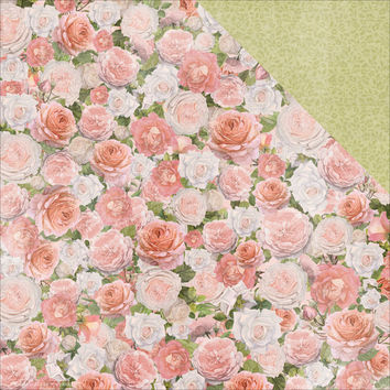 "Cottage Rose Double-Sided Cardstock 12""""X12""""-Garden"