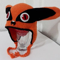 Super Cool Kyubi Kurama Knitted Hat Cosplay (Naruto Shippuden) All sizes!