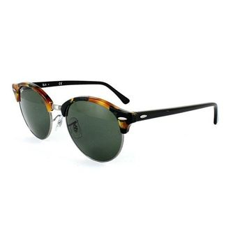 Kalete Ray-Ban Sunglasses Clubround 4246 1157 Spotted Black Havana & Gold Green