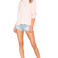 Norma Kamali Box Shirt in Blush | REVOLVE