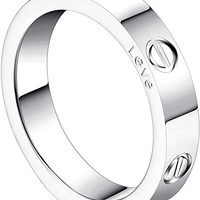 4mm Love Rings for Women with Screw Design Best Gifts for love Sliver