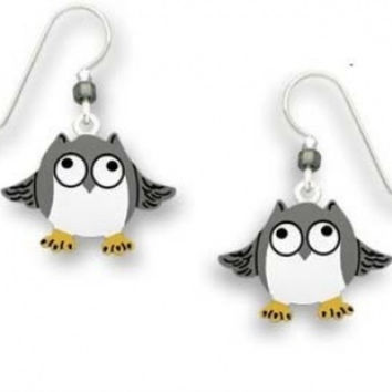 Sienna Sky Whimsical Frazzled Owl Earrings