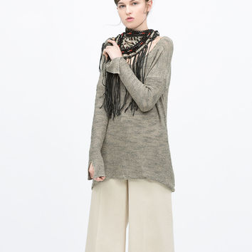 SWEATER WITH SIDE SLITS Look+: 1 of 2