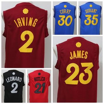 Cheap Hot 23 LeBron James Jersey Christmas Day Basketball Jerseys 2016 Xmas 2 Kyrie Irving 0 Kevin Love Shirt Uniforms For Sport Fans Red