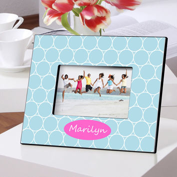 Personalized Color Bright Frames - Blue Spiral