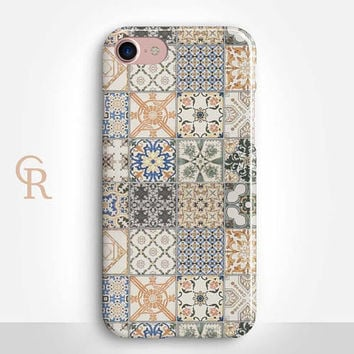 Mosaic Tile Phone Case For iPhone 8 iPhone 8 Plus - iPhone X - iPhone 7 Plus - iPhone 6 - iPhone 6S - iPhone SE - Samsung S8 - iPhone 5