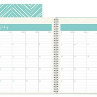 July 2015 - June 2016 Susy Jack Herringbone Clear Cover Weekly/Monthly Planner 8.5x11