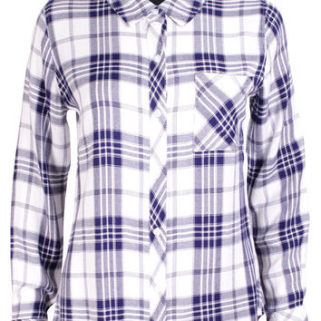 Hunter Blue & White Check Shirt