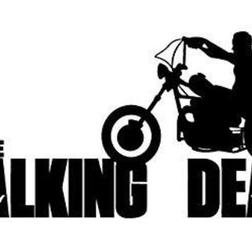 Daryl Dixon Walking Dead Motorcycle  Vinyl Car/Laptop/Window/Wall Decal