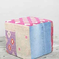 HYM Salvage X Urban Renewal Cube Pouf - Urban Outfitters