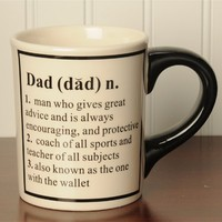 Tumbleweed Dad Definition 20 Ounce Ceramic Coffee Mug