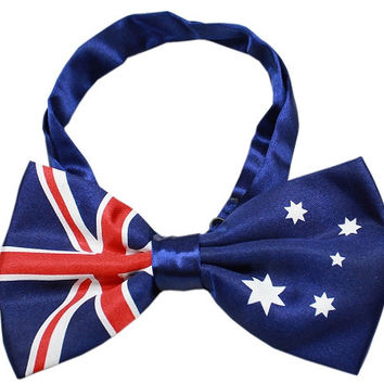 Big Dog Bow Tie Australian Flag