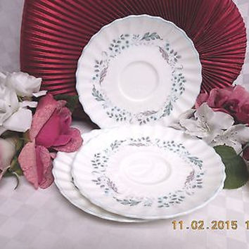 Royal Doulton China England Glen Auldyn Pattern #: H4959 set 3 saucer(s)