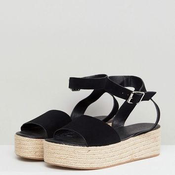 ASOS DESIGN Thear Espadrille Flatform Sandals at asos.com