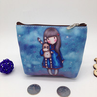 New Arrival Fashion Girl Cartoon Key Coins Zero Wallet Coin Purses Lovely Children Cards Bag Kids Wallets